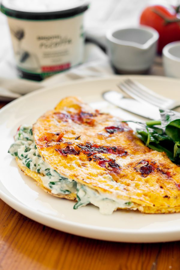 Ricotta and Spinach Omelette