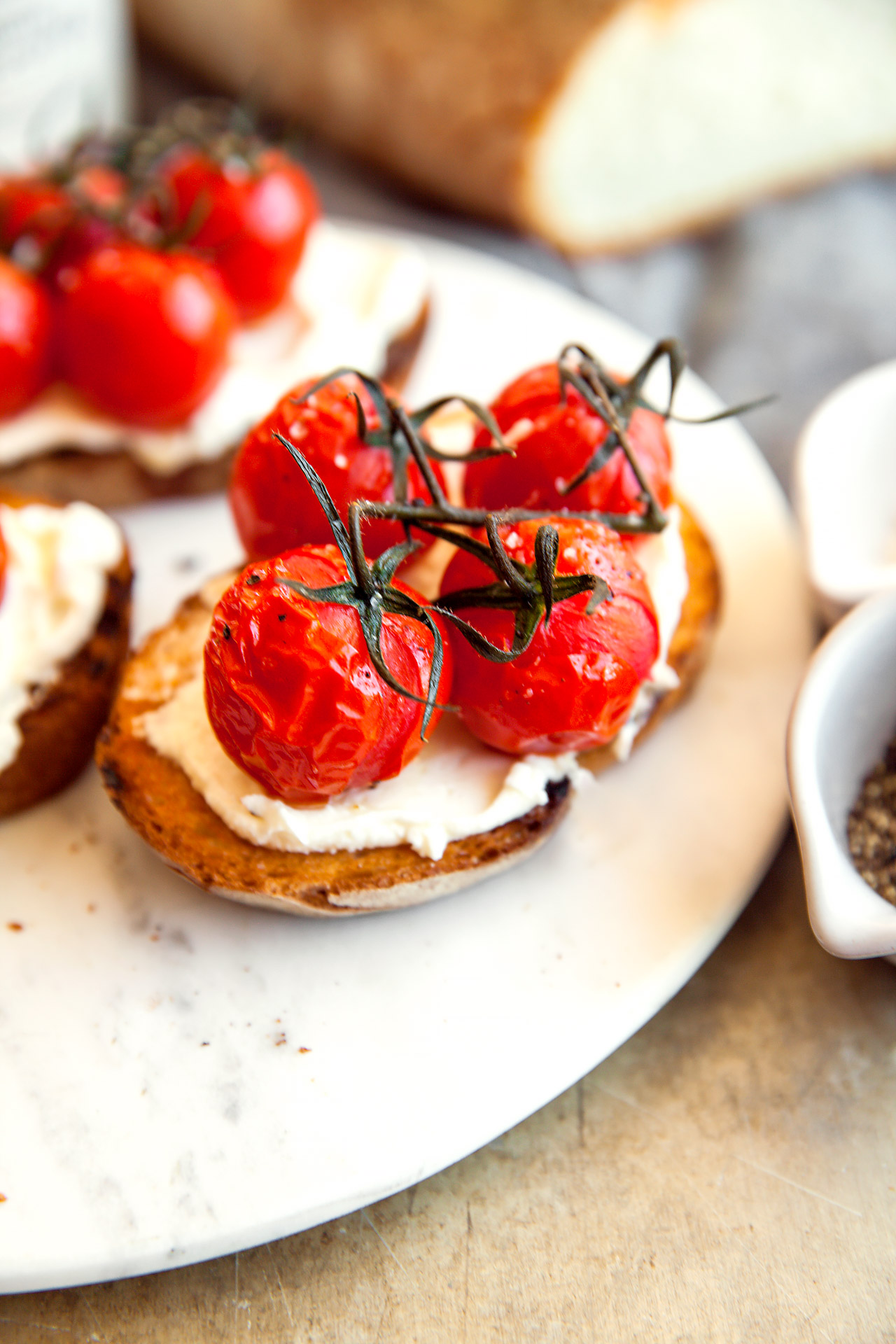 Tomato and Ricotta Bruschetta