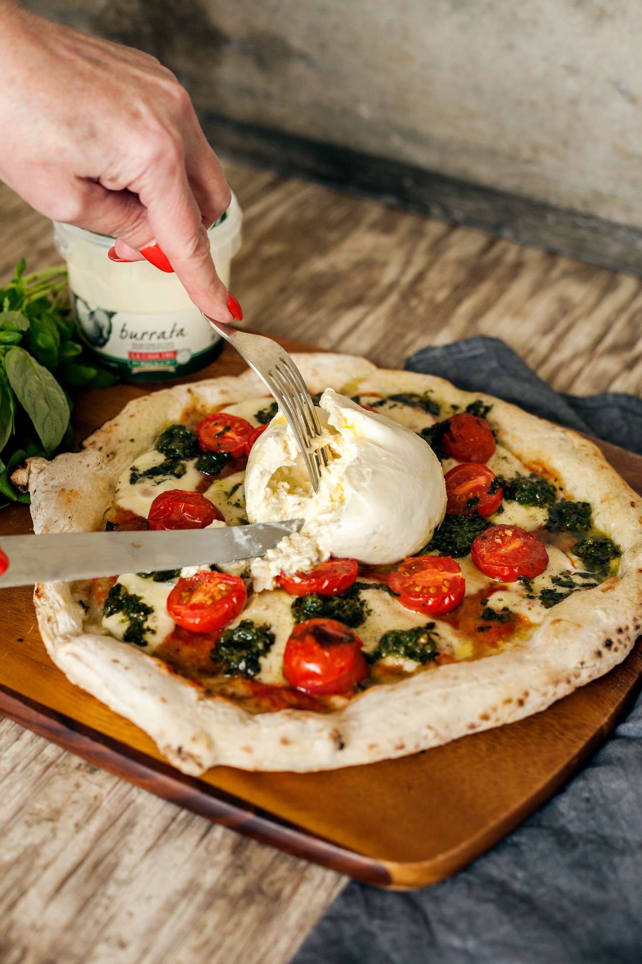 Burrata Pesto Pizza