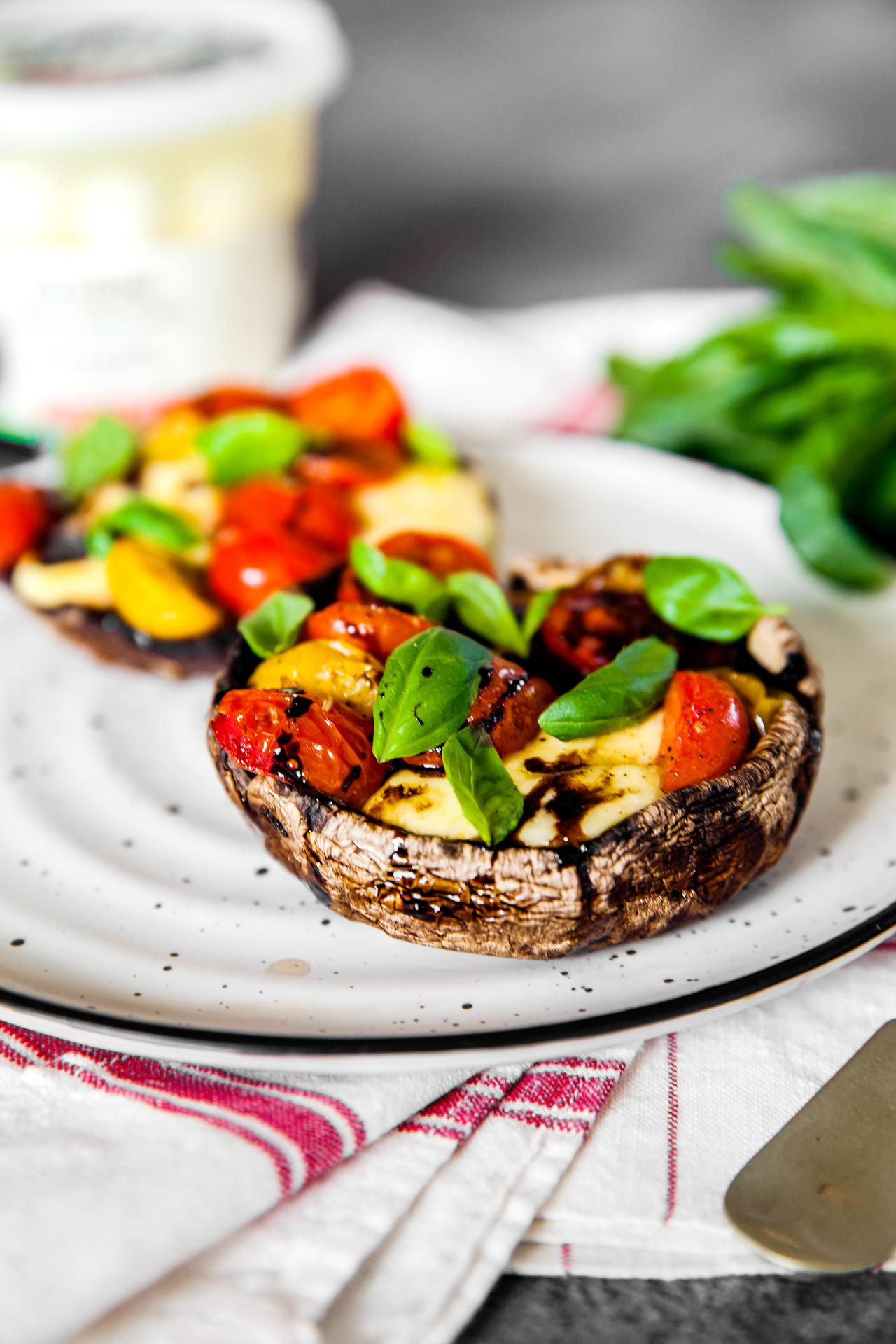 Grilled Caprese Mushrooms